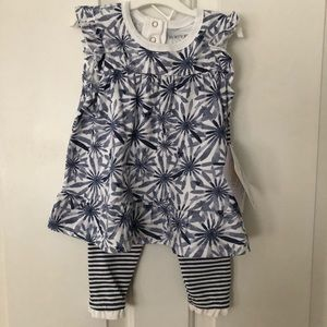 Baby girl's Burt's Bees two-piece outfit